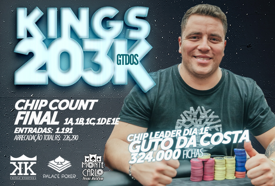 CHIP COUNT GERAL DO KINGS 203K GTD