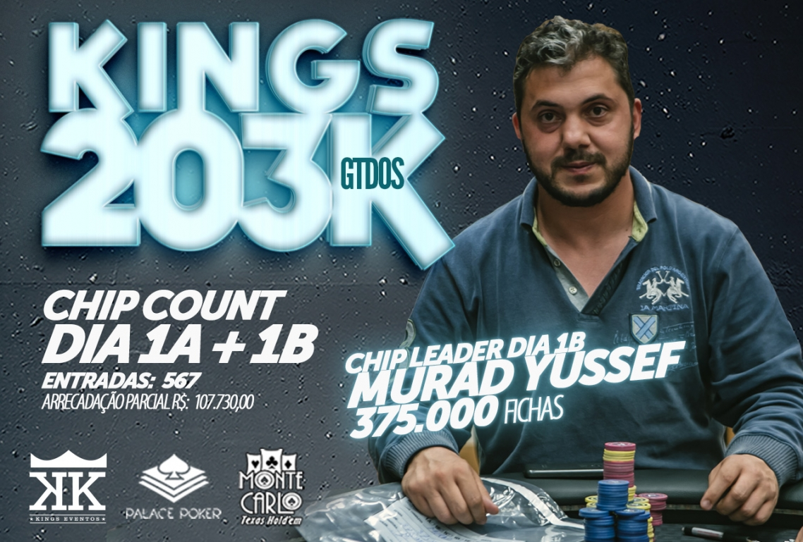 Chip Count KINGS 203K GTD DIA 1A + 1B
