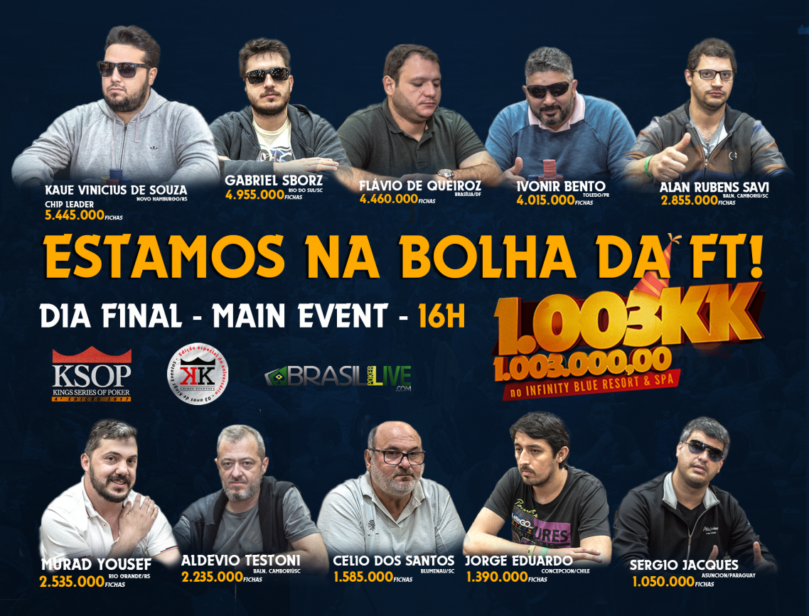 Estamos na bolha da Mesa Final do KSOP - MAIN EVENT