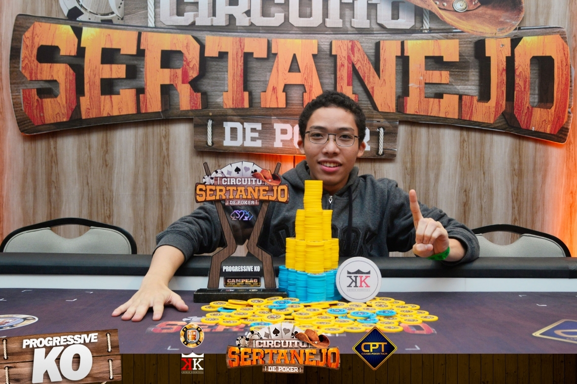 Breno Ojima é campeão do evento #7 Progressive KO no Circuito Sertanejo