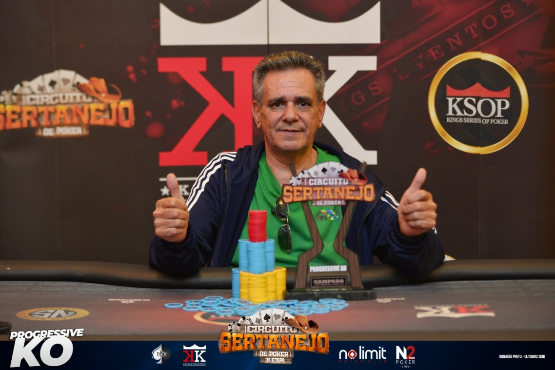 Laercio é campeão do evento #7 Progressive KO na 3ª Etapa do Circuito Sertanejo de Poker
