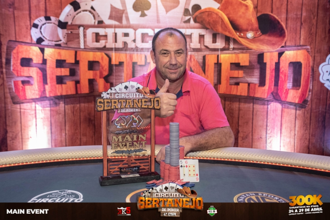 Jomar Guerra crava Main Event do Circuito Sertanejo e leva R$ 45 mil